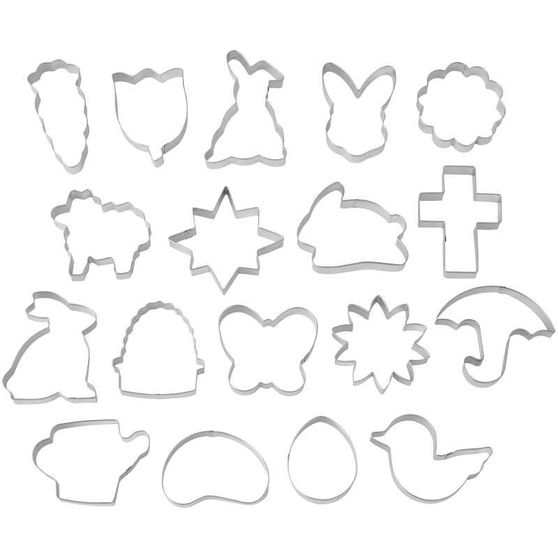Easter Cookie Cutter Tub, 18-Count Set image number 0