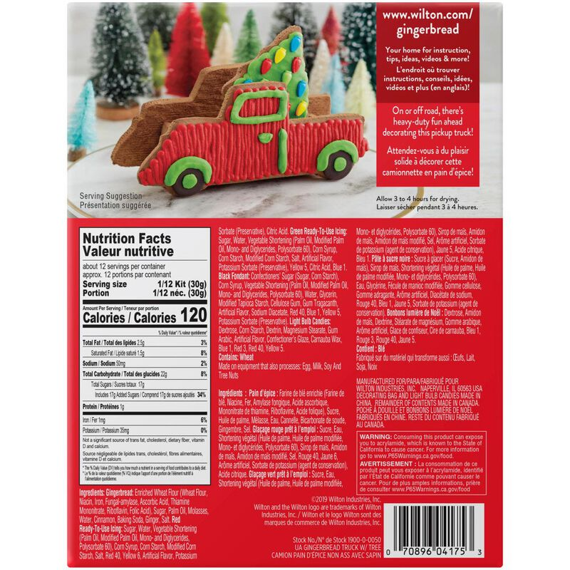 Build it Yourself Gingerbread Pickup Truck Decorating Kit image number 1