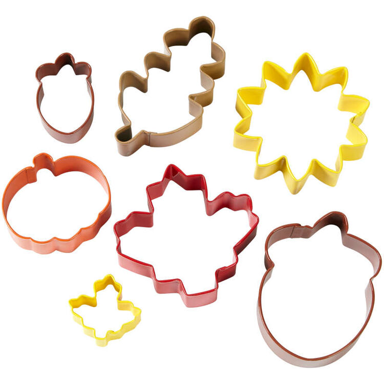 Fall Cookie Cutters Set, 7-Piece