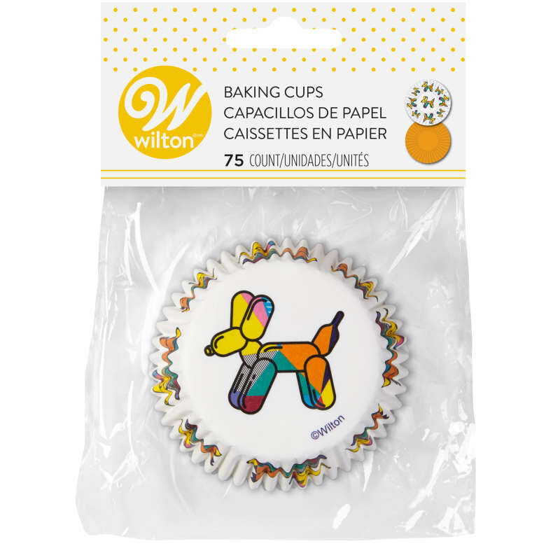 Balloon Dogs and Solid Orange Cupcake Liners, 75-Count image number 1