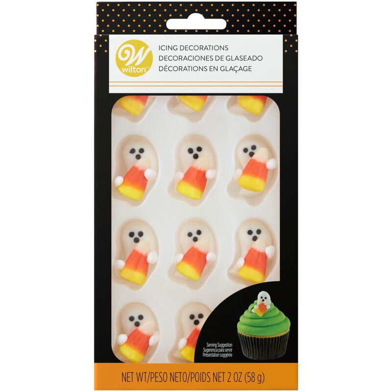 Ghost with Candy Corn Icing Decorations, 12-Count image number 2