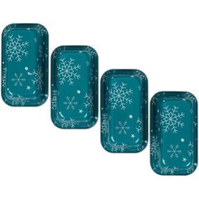 Bake and Bring Snowflake Print Non-Stick Mini Loaf Pan Set, 4-Count