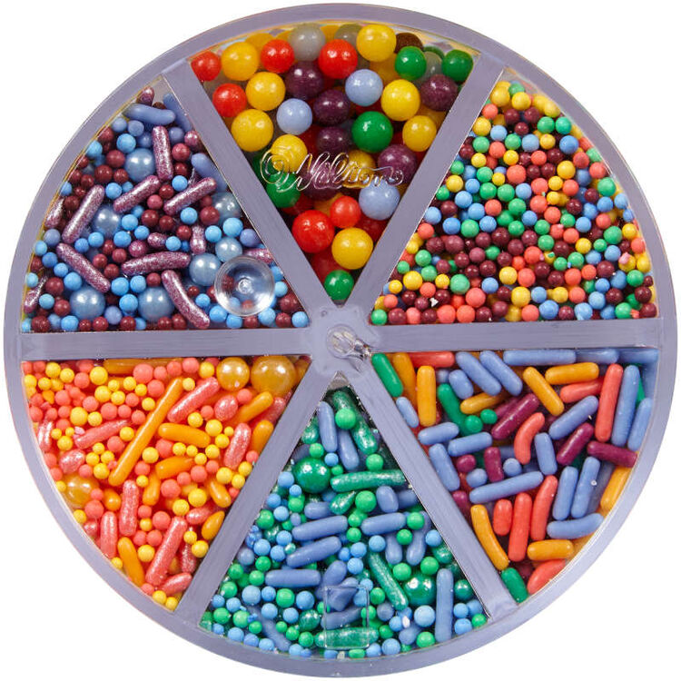 Assorted Bright Sprinkle Mix Top View
