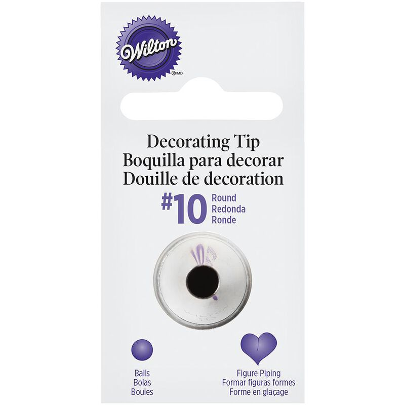 Wilton Decorating Tips - #10 Round Piping Tip image number 0