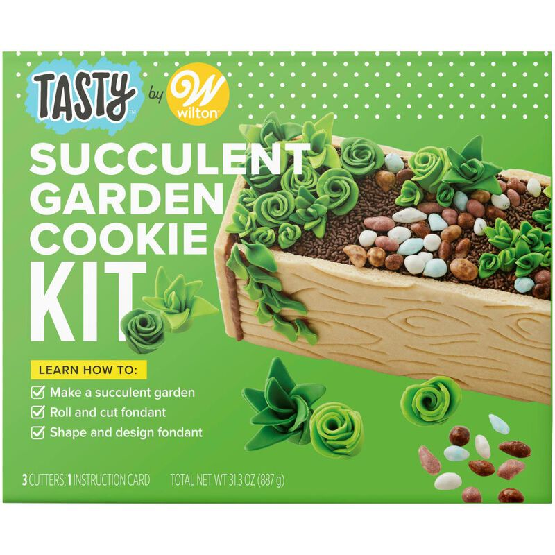 Tasty by Fondant Succulent Garden Cookie Kit image number 0