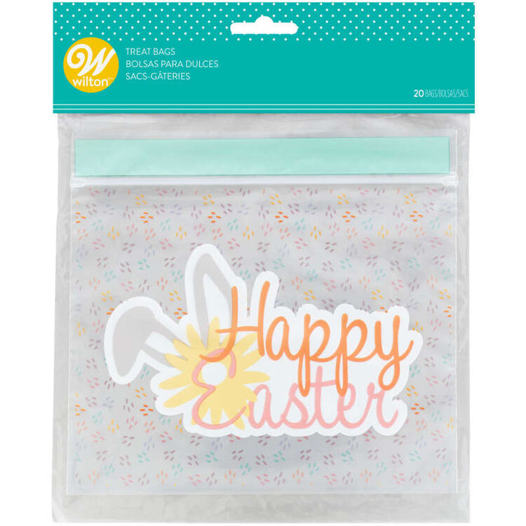 Happy Easter Resealable Treat Bags, 20-Count