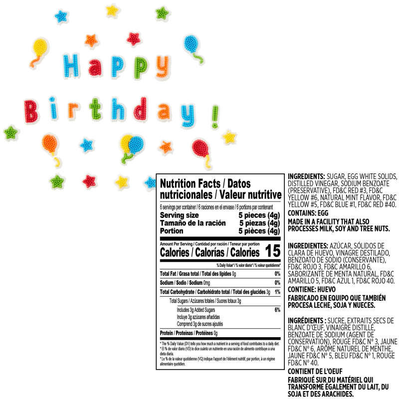 Birthday Treat Topper Set, 4-Piece image number 1