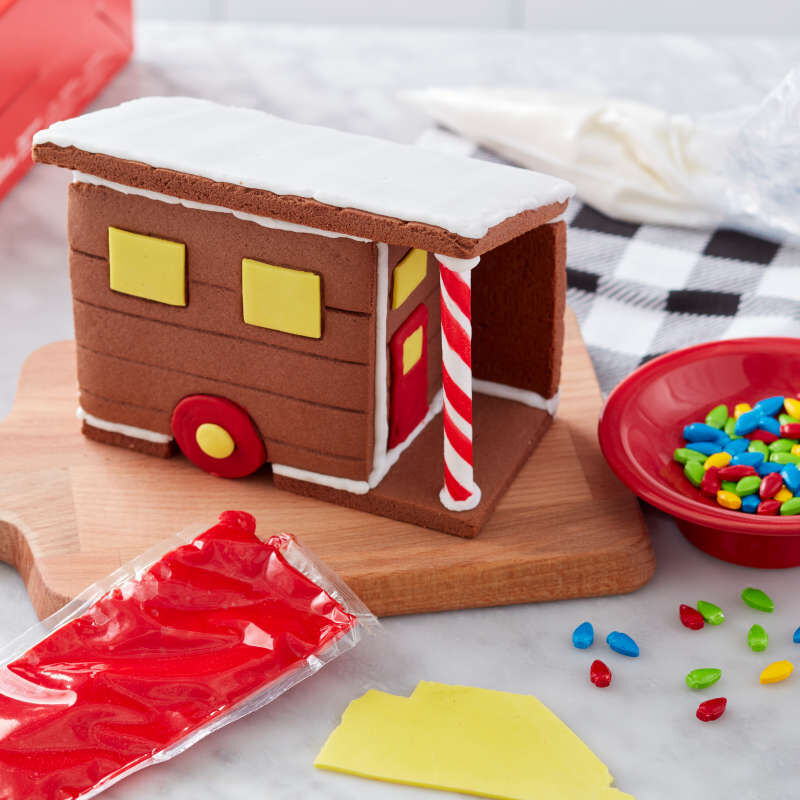 Build it Yourself Room to Grow Chocolate Cookie Tiny House Decorating Kit image number 3