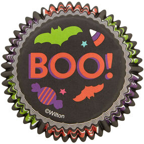 Boo! Halloween Standard Cupcake Liners, 75-Count