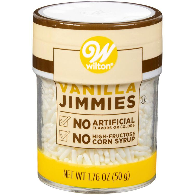 Naturally Flavored Vanilla Jimmies Sprinkles, 1.76 oz.