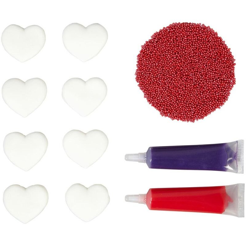 Valentine's Day Watercolor Heart Decorating Kit image number 0