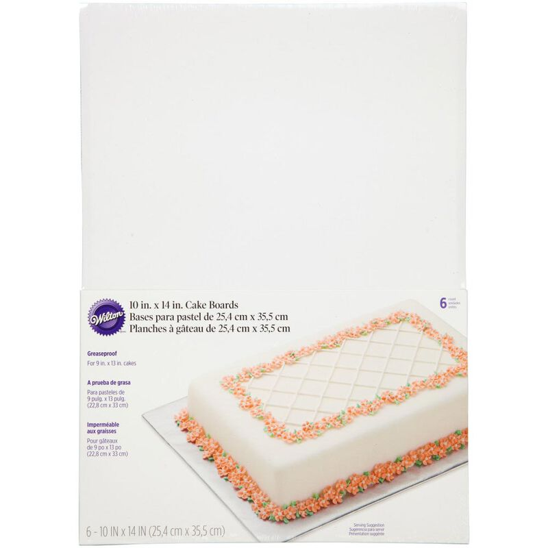 10 x 14-Inch Rectangular Cake Boards, 6-Piece image number 0