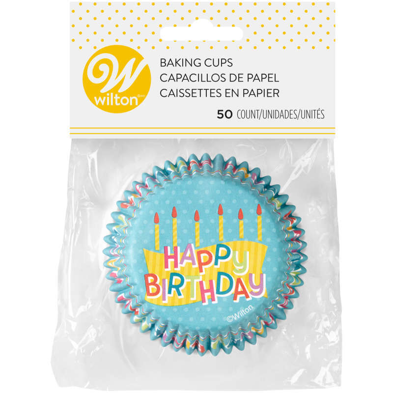 Happy Birthday Cupcake Liners, 50-Count image number 2
