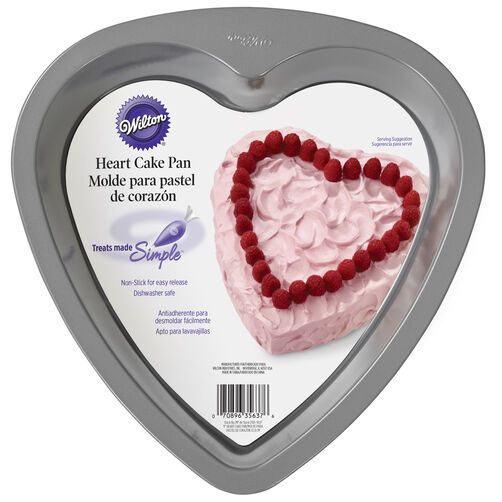 Treats Made Simple Non-Stick Heart Cake Pan, 9-Inch