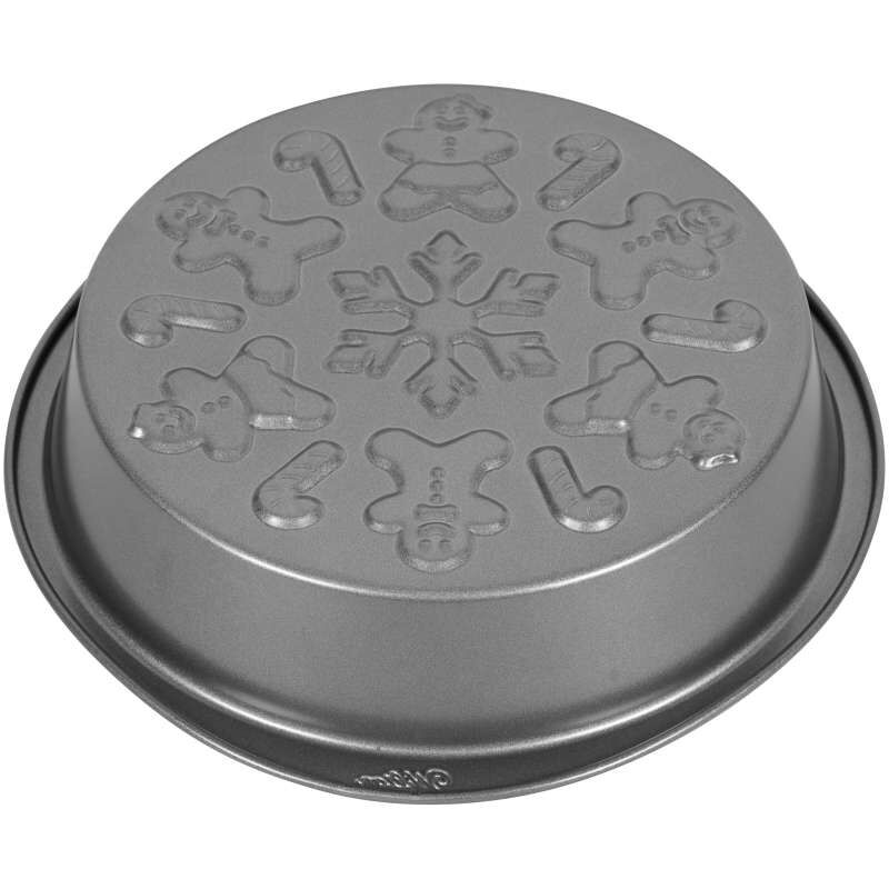 Round Embossed Christmas Cake Pan, 9-Inch image number 3