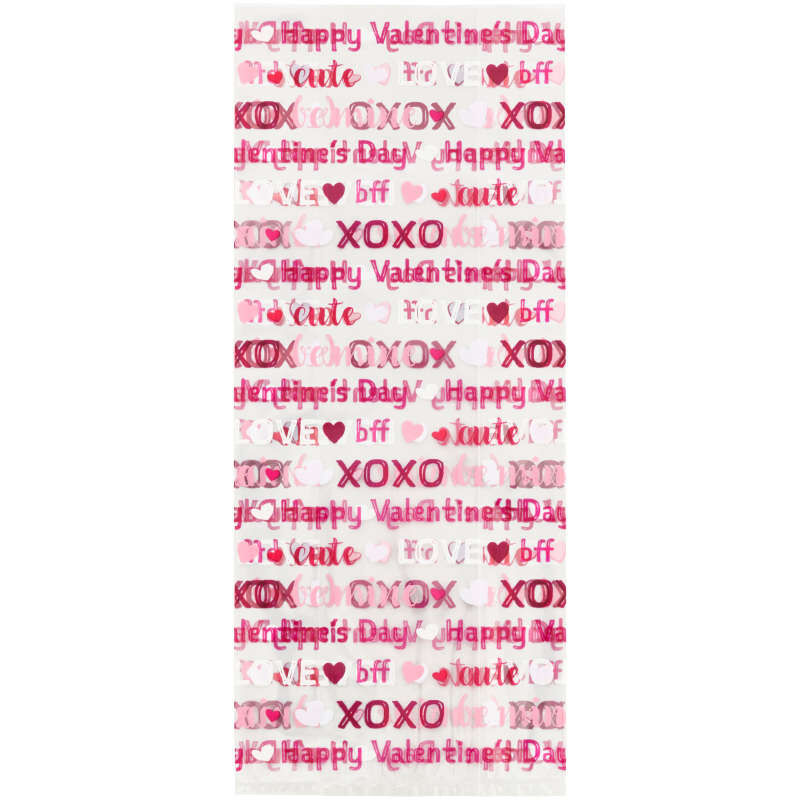 Say it With Words Valentine's Day Treat Bags, 20-Count image number 1