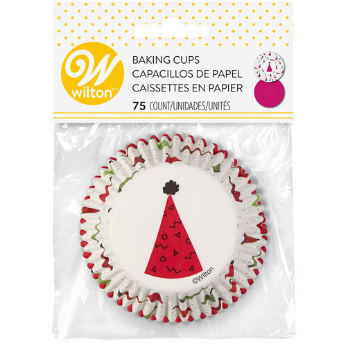 Party Hats Cupcake Liners, 75-Count