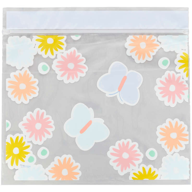 Flowers and Butterflies Resealable Treat Bags, 20-Count image number 1