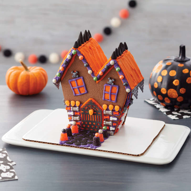 Ready-to-Build Chocolate Cookie Haunted House Kit, 15-Piece image number 3
