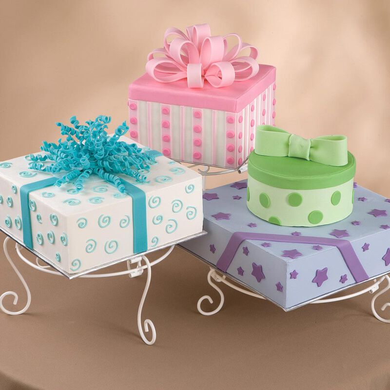 White Scrolled Cake and Dessert Stand Set - Wedding Cake Display image number 2