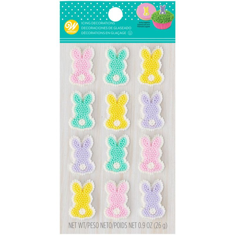 Pastel Bunny Icing Decorations, 12-Count image number 2