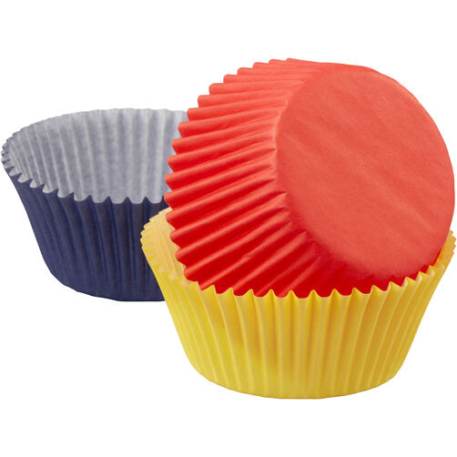Assorted Primary Colors Cupcake Liners