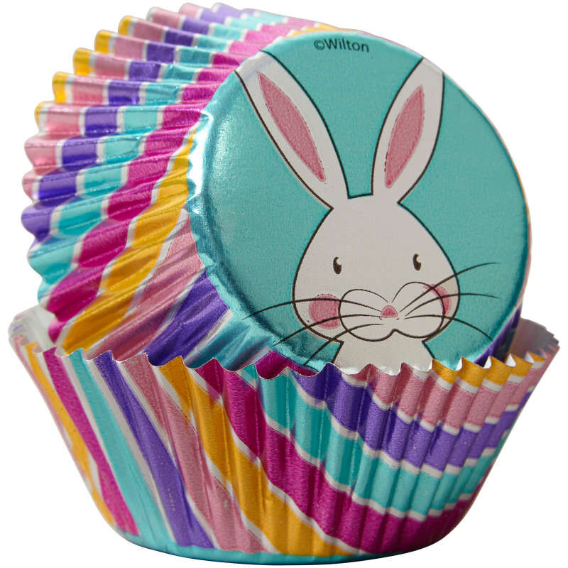 Easter Bunny Foil Cupcake Liners, 24-Count image number 2