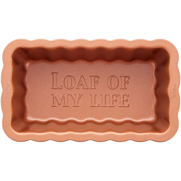 8-Inch Copper Scalloped Loaf Pan