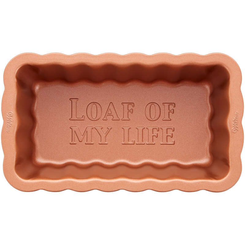 8-Inch Copper Scalloped Loaf Pan image number 1