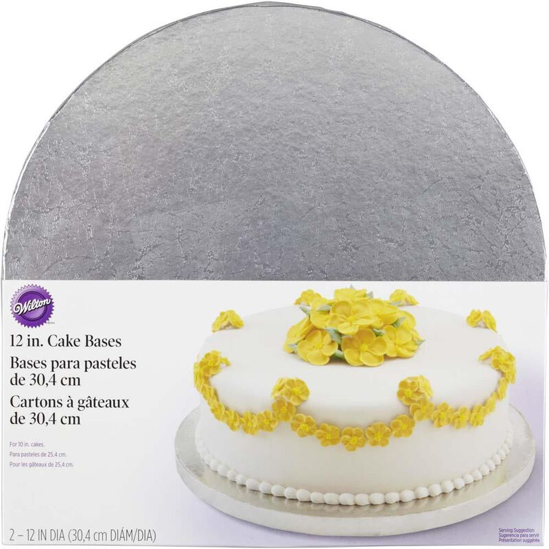 12 Inch Round Silver Cake Base image number 0
