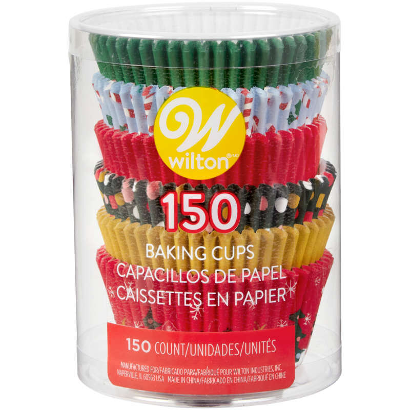 Holiday Cupcake Liners, 150-Count image number 1