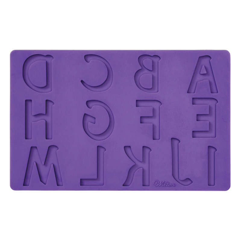 Silicone Letters and Numbers Fondant and Gum Paste Molds, 4-Piece - Cake Decorating Supplies image number 2