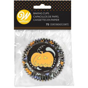 Halloween Paisley Spooky Cupcake Liners, 75-Count