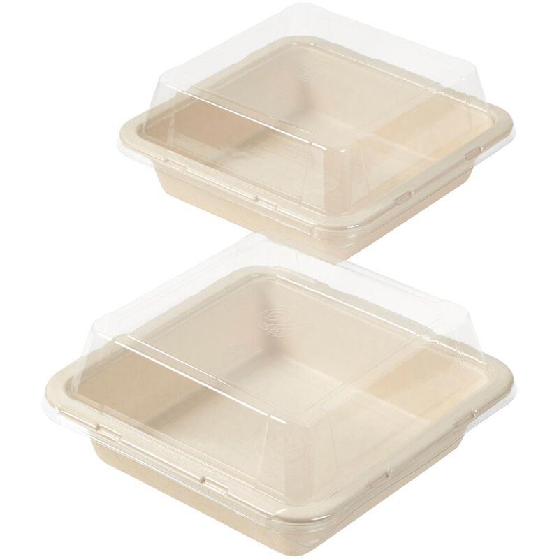 Disposable 8-Inch Square Baking Pans with Lids, 2-Count image number 0