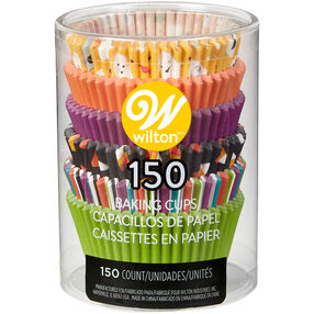 Ghost Emoji, Solid and Striped Cupcake Liners, 150-Count