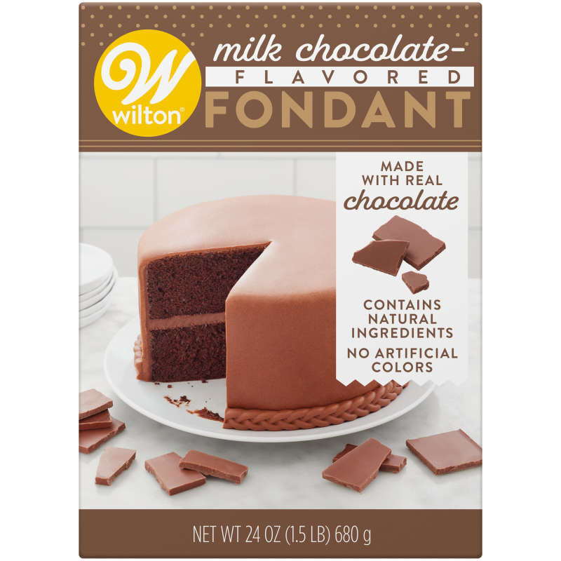 Milk Chocolate-Flavored Fondant for Cake Decorating, 24 oz. image number 0