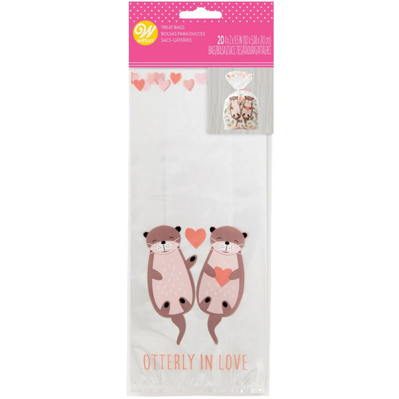 Valentine's Day Otterly in Love Treat Bags, 20-Count image number 1
