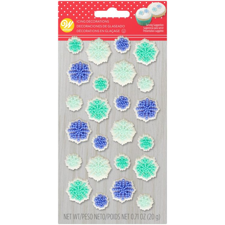 Snowflake Icing Decorations, 0.71 oz.