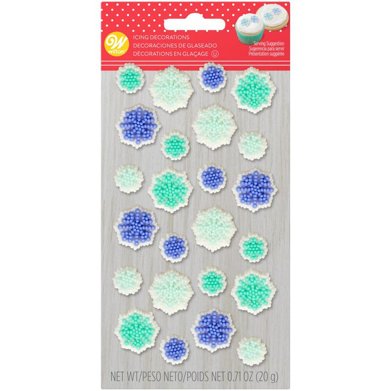 Snowflake Icing Decorations, 0.71 oz. image number 0