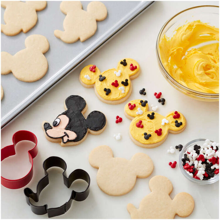 Mickey Mouse Cookie Cutter and Sprinkles Decorating Set, 4-Piece
