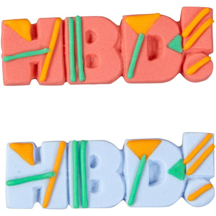HBD! Icing Decorations, 12-Count