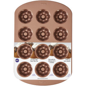Wilton Mini Fluted Tube Bronze Cake Pan