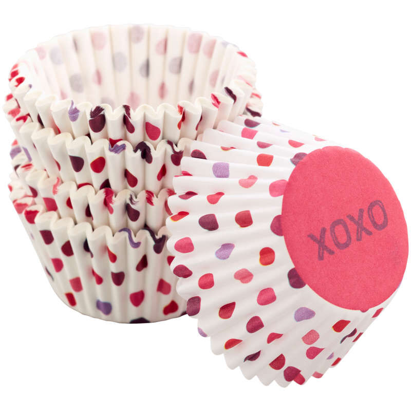 XOXO Mini Cupcake Liners, 100-Count image number 3