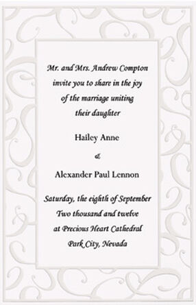 Elegant Swirls Wedding Invitation Kit