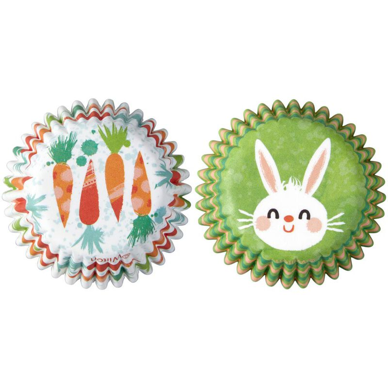 Bunny and Carrot Mini Cupcake Liners, 100-Count image number 0