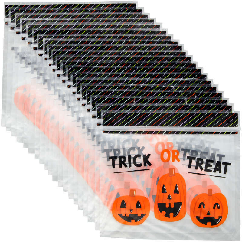 Trick or Treat Resealable Halloween Treat Bags, 20-Count image number 2