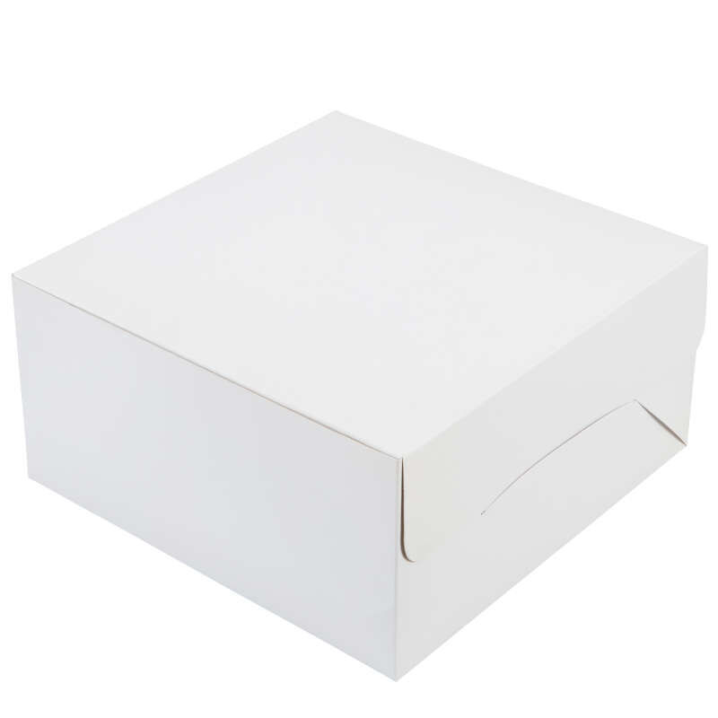 White Square Cake Box, 12-Inch image number 0