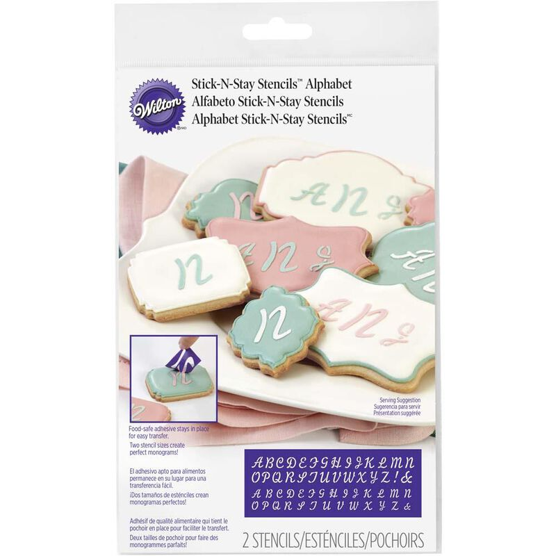 Wilton Stick-N-Stay Monogram Stencils image number 0