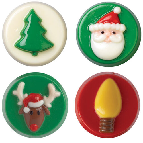 christmas cookie candy molds 2 pack - Christmas Candy Molds