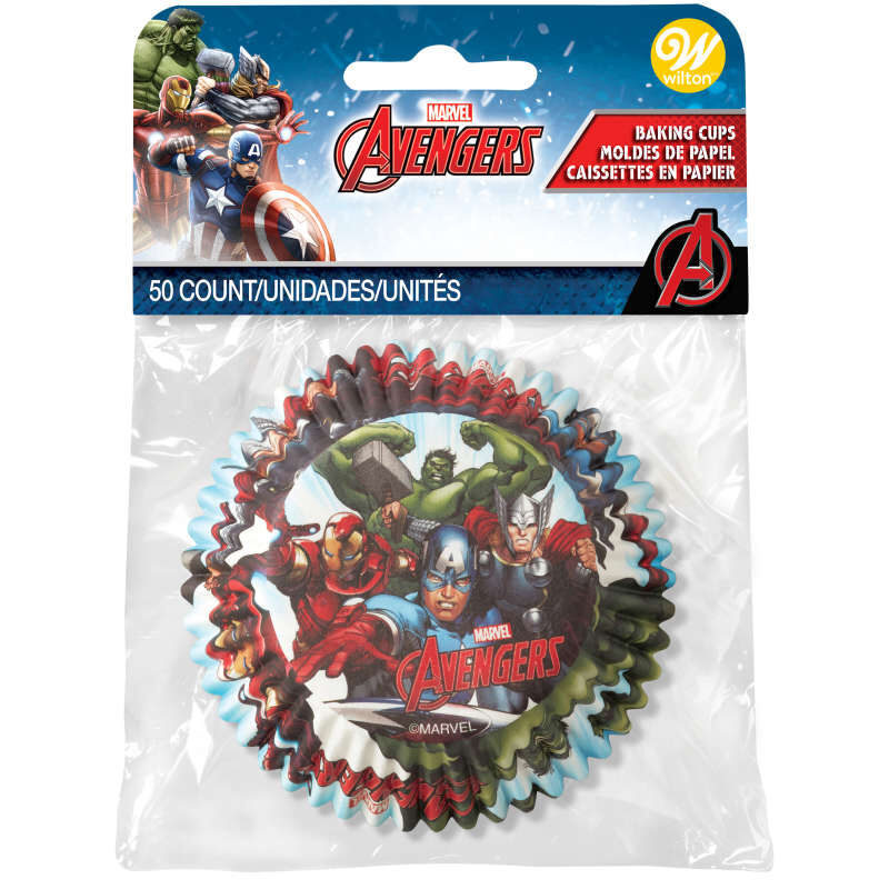 Marvel Avengers Cupcake Liners, 50-Count image number 1